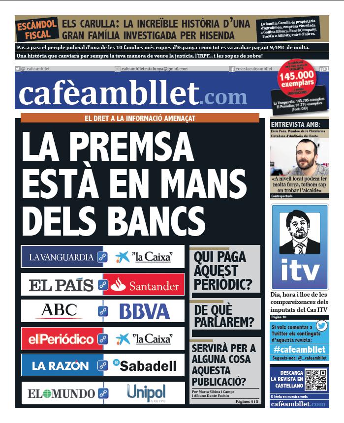 cafèambllet proposa crear una publicació massiva i gratuïta per respondre contundentment a aquesta manipulació constant. Per conquerir el carrer amb informació lliure.